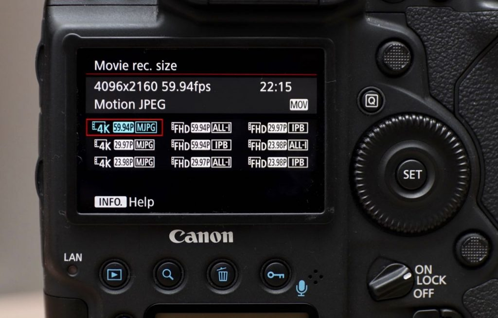 canon 1dx mark ii 4k 60p video